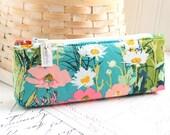 Colorful Floral Pencil Case Floral Pencil Pouch Floral Purse Organizer