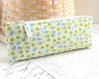 Blue and Green Pencil Case Kawaii Snails Pencil Pouch Snail Pencil Case Purse Organizer