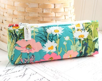 Colorful Floral Pencil Case Floral Pencil Pouch Floral Purse Organizer