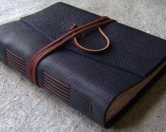 "Leather journal, 5.5""x 7.5"", handmade leather journal, vintage style diary, leather travel journal,  (2530)"