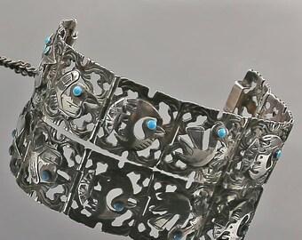 Vintage Peruvian Cusco Sterling Bracelet