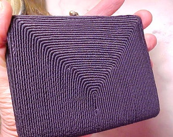 Vintage 40s Ladies Cord Purse Wallet/Bills Chain Increase the Value of your Purse Nused