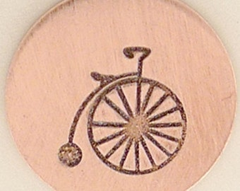 Bicycle Metal Design Stamp 5mm  - Metal Jewelry Stamping Tool