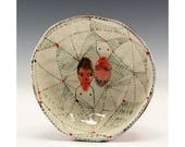 Up and Down - Painting by Jenny Mendes in a Ceramic Pinch Bowl
