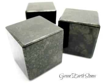 Shungite Cube XL, Premium, (one) Russia, Crystal Healing, Black, Protection, Feng Shui, Reiki, Metaphysical, Sacred Geometry