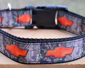 orange chevy camo dog collar and/or leash