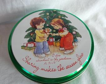 Vintage Small Christmas Can