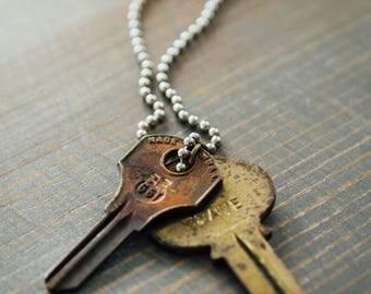 BE BRAVE Key Necklace