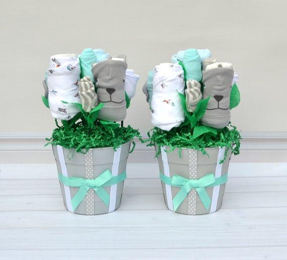 Boy Twin Baby Gift, Boy Twin Baby Shower, Boy Twin Clothes, Unique Twin Baby Gift,  Newborn Boy Twin Gift, Baby Gift Hospital, Twin Layette