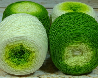 "Full "" Sprout "" -Lleap Handpainted Gradient Sock Yarn"
