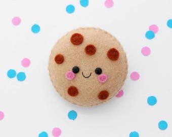 Cookie Brooch, Happy Pin, Handmade in the UK, Cute Food