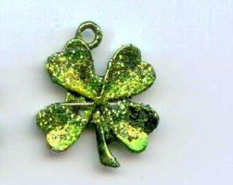 Lucky charm -- Four leaf clover - St. Patrick's day - 2 charms