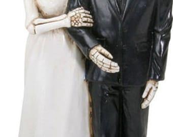 halloween wedding cake topperslove never dies bride holds groom arm weu0027re