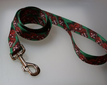 5 1/2 foot dog leash polyester 1 inch webbing The Gambler dice