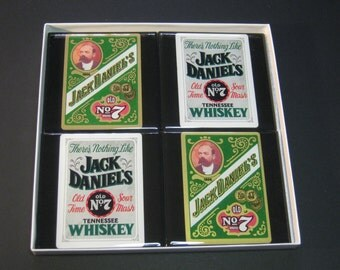 Jack Daniels Vintage Collector Playing Card Drink Coasters (4 Coasters)