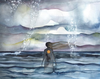 Endless Ocean Watercolour 11x14 Print