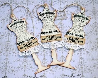 Paris Mannequin Gift Tags