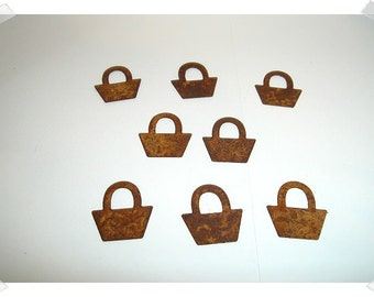 Rusty Metal Baskets/Set of 8 /Craft Supplies*