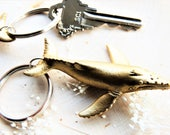 KEYCHAIN Gold Whale Key Chain For Women Animal Keychain Key Holder Key Ring Key Fob Cute Unique Keychains Humpback Whales Ocean