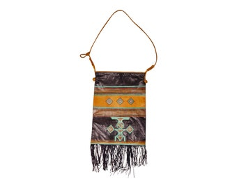 Vintage Tuareg Goat Leather Shoulder Bag - Ethnic - Tribal