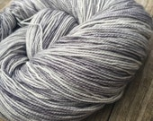 hand dyed sock yarn Silve...