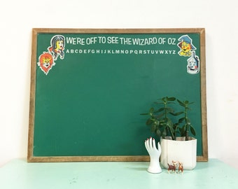 Vintage 1950s Wizard of Oz Large Double Sided Chalkboard