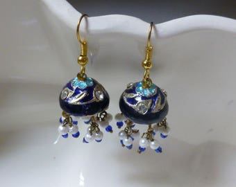 Enamel Chandelier Earrings