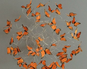 Monarch Butterfly Mobile, Nature Art, Hanging Mobile,