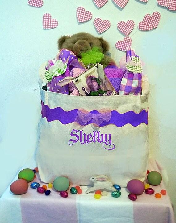 Large Easter Basket, Personalized Easter Bucket, Bunny Baskets, Egg Basket, Colorful Easter Basket, Toy Storage Bin, Childrens room decor