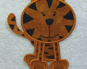 Little Tiger Fabric Embroidered Iron On Applique Patch Ready to Ship