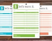 Printable Kids Commission/Allowance Chart