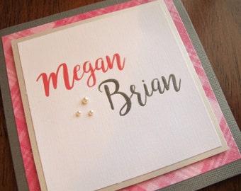 Pink Wedding Invitation Set/Glamorous Wedding Invitation/Square Wedding Invitation/Modern Wedding Invitation/Spring Wedding