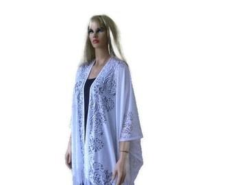 Snow white Boho Lace Kimono cardigan-Oversize kimono-Summer kimonos-perfect for plus sizes