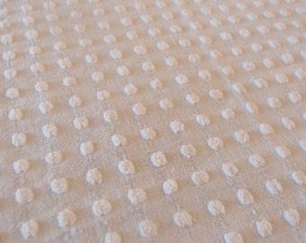 "Vintage Chenille white Morgan Jones popcorn fabric piece, 18"" x 24"" - 300-53"