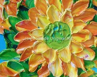 Impasto Oil Painting, Original Oil Painting , Daisy , graduation gift