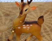 Vintage Christmas Ornament Reindeer with Bell
