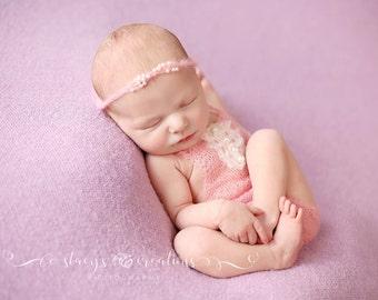 RTS Newborn Mohair romper & Headband set. Newborn mohair romper photo prop. Dainty newborn girl photography props. Chicaboo newbron romper