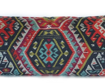Body pillow cover - Boho chic - Tribal - Teal - Charcoal - 20x54 - Decorative - Body pillow case