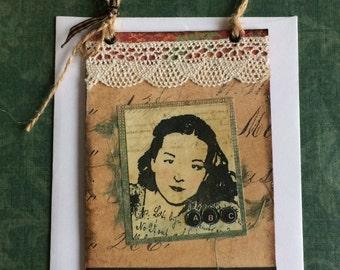 Handmade Hanging Greeting Card With Hope Theme