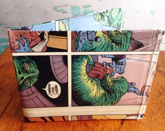 Star Wars Jabba the Hut comic book vinyl wallet.  Handmade from comic books. Disney. The Force.