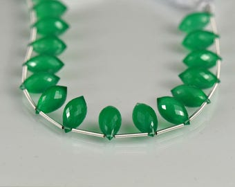 Green Onyx Chandelier Briolettes AAA  Onyx Gemstone Beads Micro Faceted