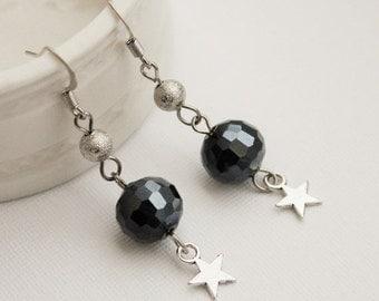 40% OFF SALE Galaxy Star Earrings. Space Jewelry
