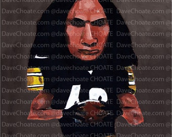 Troy Polamalu, Pittsburgh Steelers Art Photo Print