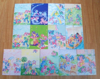 G1 My Little Pony Enterplay Postcards Set of 13 Signed by Bonnie Zacherle