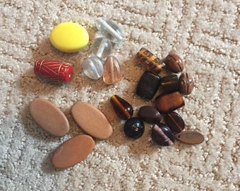 Supplies - Large Lot of Beads - Glass - Wood - Jewelry Making Supplies - Destash