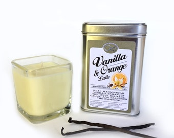 Vanilla Candle, Orange Candle, Bourbon Vanilla, Madagascar Vanilla, Made in Los Angeles