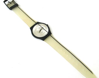 vintage swatch watch  ...   swatch skin   ...  uber thin   ....   pure line