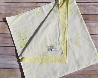 Upcycled Vintage Sheet Flannel Baby Blanket