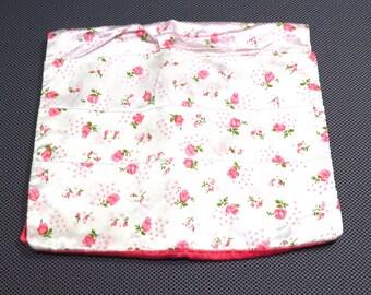 Pink Rose Lingerie Bag Vintage Hot Pink Hosiery Bag - FREE Domestic Shipping