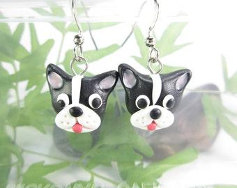 Boston Terrier Earrings Dog jewelry cute animal dog earrings, dog earrings, pet lover gift, Boston Terrier gifts Boston terrier jewelry